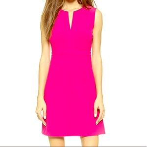 DIANE VON FURSTENBERG A LINE SCOOP NECK DRESS